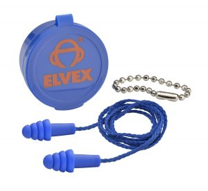 Quattro Corded Reusable Ear Plug with case and nylon cord chain