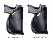 ART offers a lower profile cut to give a better master grip.