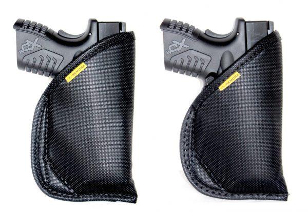 Inside the waistband holster standard IWB cut vs Artemis Cut (lower profile for a better master grip).