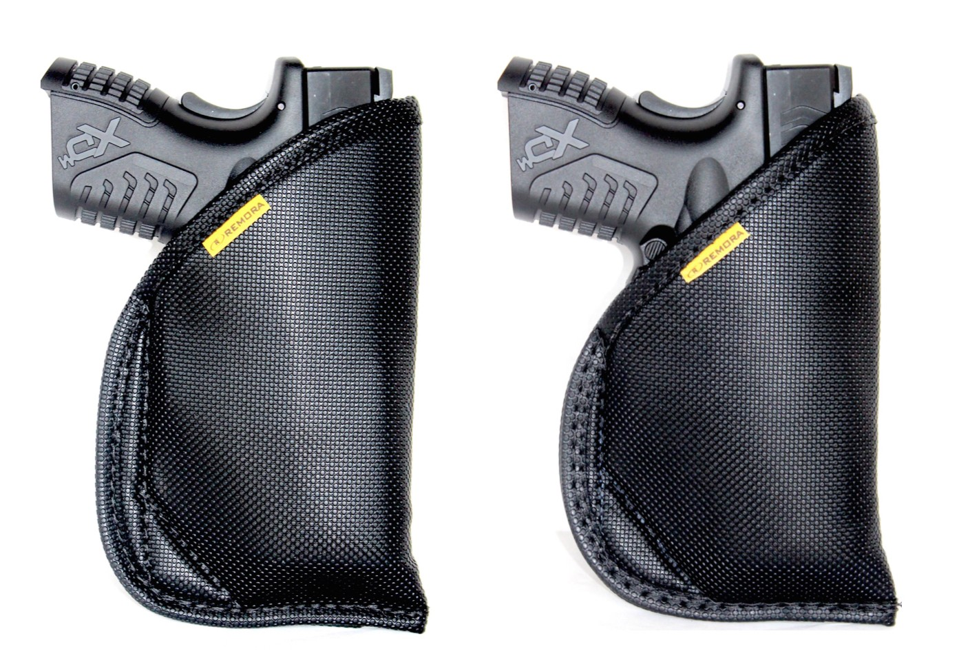 Inside the waistband holster standard IWB cut vs Artemis Cut (lower profile for a better master grip).
