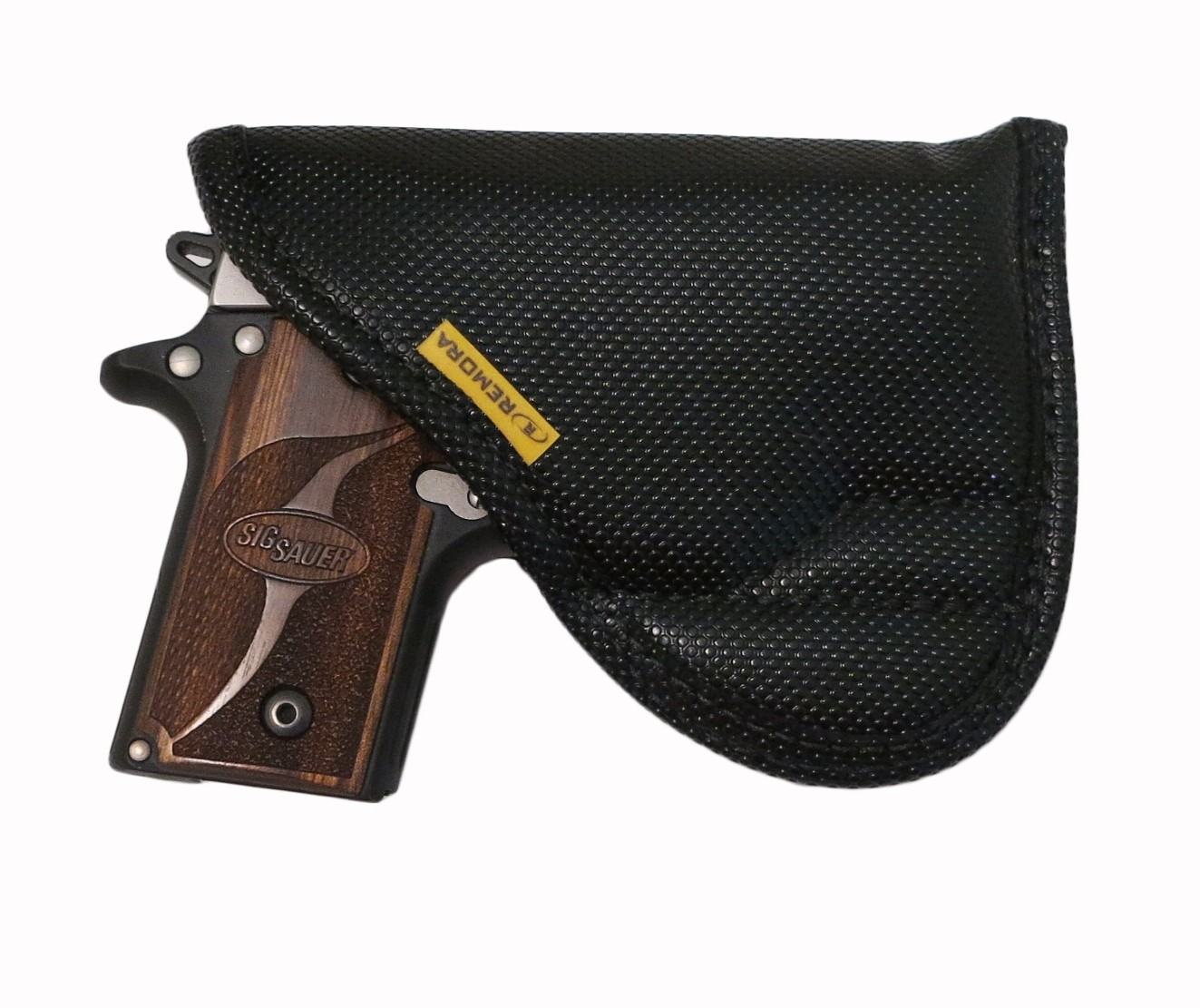 Inside the Waistband / Pocket holster is ambidextrous and features our non slip material that allows for a no clip design.