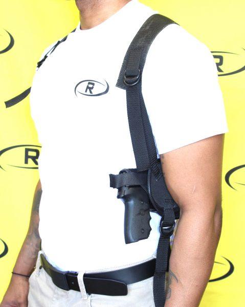 Shoulder rig vest left side