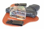 Low profile design for comfort and concealment.
