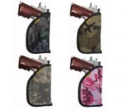 Shown in denier color options (OWB carry only) oak camo, woodland camo, digital camo and pink camo.