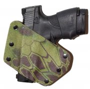 Bodyside of holster contoured fit
